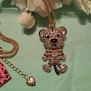 Adorable Betsy Johnson tiger necklace NWT
